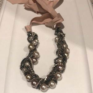 Stella & Dot Ribbon Beaded Necklace